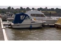 Shetland river boat 2+2 Sports cruiser Diesel Volvo Penta 290 22ft very low hours