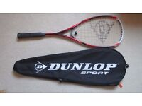 Dunlop Blackstorm Titanium Squash Racket with 3 ball Condition Like NEW.