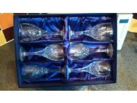 crystal cut dinner tableware glasses+ free glasses also