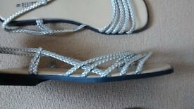 Ladies Size 8 flat strappy sandals