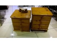 Pair of solid wood bedside drawers excellent central London bargain
