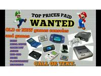 WANTED - games retro gameboy Xbox PlayStation snes mega drive ect Nintendo