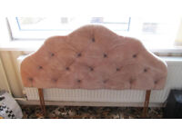 80's velvet headboard in good contition. Fits double bed. FREE