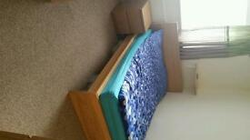 Double bed with 1 bedside table