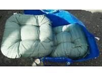 Chair cushions green x6