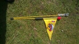 Puky Safety Flag for balancing bikes, high visibility yellow