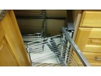 Stainless Steel Kitchen Corner Storage Unit