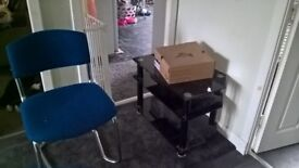 Black glass tv stand (chair has been taken )