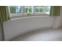 Curved Radiator for Bay Window Double Leaf