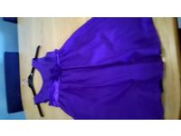 three purple bridesmaid dresses sizes 14,10 and 2