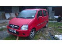 Vauxhall Agila-1000cc, cheap tax and insurance.