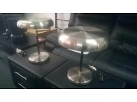 2 Stylish Extendable Metal Lamps, Excellent Condition!