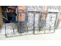 Pair of Vintage Ornate Wrought Iron Gates