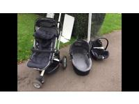 Buggy, crib and car seat