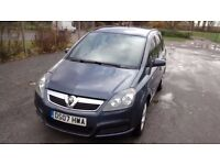 VAUXHALL ZAFIRA 1.6 LIFE (Blue) Lovely clean car, great drive