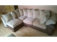 With immaculate condition almost unused 5 seater Martinez corner group sofa with large pouffe