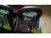 2x 10kg KETTLEBELLS USED COMES IN BOX LIKE ON PICTURES .WEIGHTS COLLECTION SURBITON