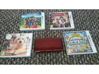 Nintendo 3ds woth 4 games