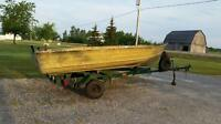 12ft sears camo aluminum boat and trailer