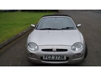 Silver 2000 MG F Convertible Wiith Very Low Milage