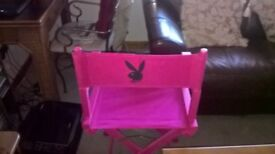 Pink Bunny style folding chair..