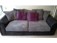Three seater sofa bed, excellent condition. Cushions remove to reveal bed in sofa base.