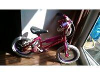 "disney princess bike 14"" wheels with stabilisers"