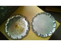 Pair of Silver Plated Trays