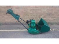 QUALCAST SUFFOLK COLT 35,S PETROL CYLINDER LAWNMOWER SELF PROPELLED WITH REAR ROLLER