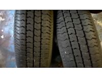 CAR TRAILER WHEELS /TYRES 145 X 12 SAME FIT AS MINI 4 IN PCD very good condition