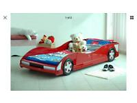 Red racing car 3ft single bed - frame only