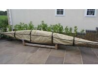 Sea Kayak Cover 15ft 11in long. Made by Hotwells Canvas for Aries/Delphin 155 Almost New