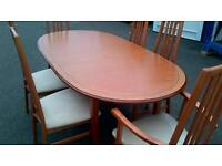 maplewood dining table x 6 chairs (morris of glasgow).