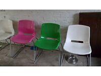 retro chairs x4