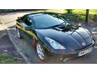 2003 Toyota Celica 1.8 VVTi Black, 1 previous owner, 52,000 miles