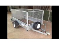 INDESPENSION 8' X 4' TRAILER WITH MESH KIT AND RAMP DOOR
