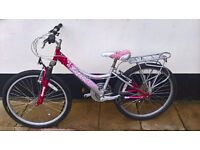Pink mountain bike