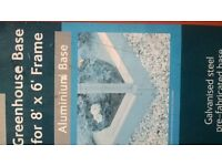 NEW 8X6 GREENHOUSE BASE ALUMINIUM BARGAIN £25