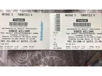 Robbie williams tickets for tonight