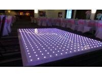 LED Dancefloor Hire £349 White Dancing Floor Rental £299 Wedding Stage Decor £350Venue Platform Hire