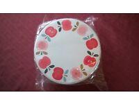 Brand New Set of 3 Vintage Apple Cake / Storage Tins