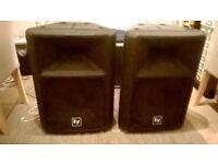 Dynacord Powermate mixer 1000 watt mixer amplifier mk1 plus two EV300 speakers,stands@ cables