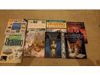Various art drawing books