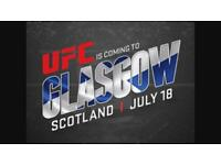 UFC Glasgow Tickets x3
