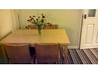 Dining Room Table and 4 Chairs. Great Condition.