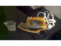 phoenix gold steam generator iron...AS NEW, USED ONCE.RRP £50