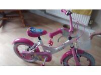 Girls Cinderella bicycle - Pink