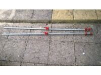 Galvanised Steel Pipe Cramps 1.8m long