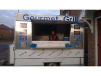 great looking catering trailer 12ft 7ft 7ft years test on gas and ele