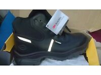 Steel Toe Cap Work Boots Size 10.